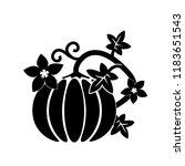 cartoon pumpkin thanksgiving...   Shutterstock .eps vector #1183651543