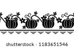 seamless border pattern with...   Shutterstock .eps vector #1183651546