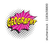 word geography in colorful... | Shutterstock .eps vector #1183658800