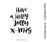 have a holly jolly christmas.... | Shutterstock .eps vector #1183662496
