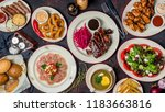 assorted pork ribs  tuna... | Shutterstock . vector #1183663816