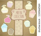 cupcake collection | Shutterstock .eps vector #118366564
