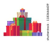 bunch of christmas gift boxes... | Shutterstock .eps vector #1183666609