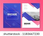 vector brochure template with... | Shutterstock .eps vector #1183667230
