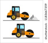 construction machinery vector... | Shutterstock .eps vector #1183667359
