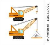 construction machinery vector... | Shutterstock .eps vector #1183667779