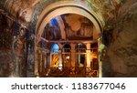 frescos and murals in ancient... | Shutterstock . vector #1183677046