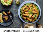 arabic cuisine  traditional...   Shutterstock . vector #1183685236