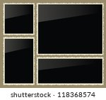 isolated photo frames  vector... | Shutterstock .eps vector #118368574