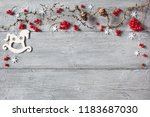 christmas wood background ... | Shutterstock . vector #1183687030