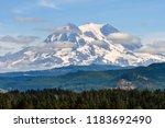 mt rainier national park ... | Shutterstock . vector #1183692490