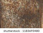 texture of rusty metal... | Shutterstock . vector #1183693480