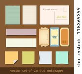 collection of various notes... | Shutterstock .eps vector #118369399