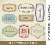 blank vintage design cards.... | Shutterstock .eps vector #118369528