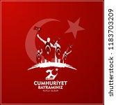 29 ekim cumhuriyet bayrami  day ... | Shutterstock .eps vector #1183703209