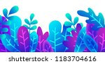 gradient plants. floral element ... | Shutterstock .eps vector #1183704616