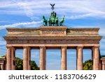 brandenburg gate in berlin in... | Shutterstock . vector #1183706629