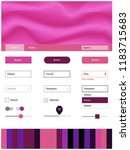 dark pink  yellow vector ui ux...