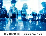business people work together... | Shutterstock . vector #1183717423
