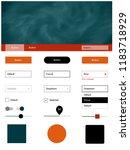 light red vector web ui kit...