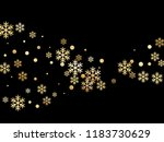 crystal snowflake and circle... | Shutterstock .eps vector #1183730629