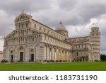 pisa  italy   october 2012 ... | Shutterstock . vector #1183731190