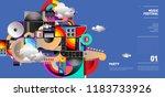 music festival illustration... | Shutterstock .eps vector #1183733926
