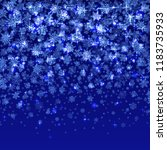 vector snowflakes falling on... | Shutterstock .eps vector #1183735933