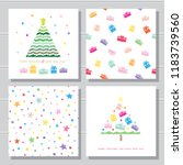 christmas creative card... | Shutterstock .eps vector #1183739560