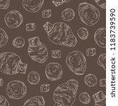 seamless pattern with taro ... | Shutterstock .eps vector #1183739590