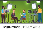 tv live news show host... | Shutterstock .eps vector #1183747810