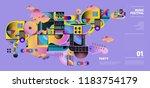 music festival illustration... | Shutterstock .eps vector #1183754179