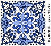 talavera pattern.  azulejos... | Shutterstock .eps vector #1183756063