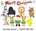 christmas concert at the zoo.... | Shutterstock .eps vector #1183758130