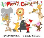 christmas concert at the zoo.... | Shutterstock .eps vector #1183758133