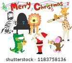 christmas concert at the zoo.... | Shutterstock .eps vector #1183758136