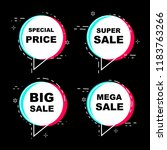 text balloons and bubbles set... | Shutterstock .eps vector #1183763266