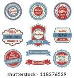 Stock vector vintage labels set vector design elements 118376539