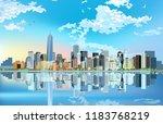 new york skyline. manhattan... | Shutterstock .eps vector #1183768219