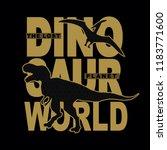 dinosaur world silhouette... | Shutterstock .eps vector #1183771600