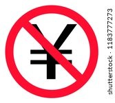 no china yuan renminbi  cny ... | Shutterstock .eps vector #1183777273