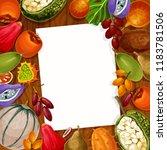 recipe note or memo reminder... | Shutterstock .eps vector #1183781506