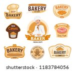 bakery or baker shop and... | Shutterstock .eps vector #1183784056