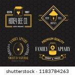 honey and beekeeping set of... | Shutterstock .eps vector #1183784263