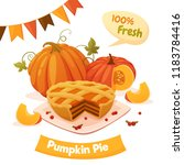 colorful autumn poster with... | Shutterstock .eps vector #1183784416