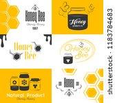 honey and beekeeping set of... | Shutterstock .eps vector #1183784683