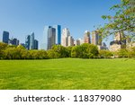 central park at sunny day  new... | Shutterstock . vector #118379080
