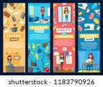 housewife homework. home... | Shutterstock .eps vector #1183790926