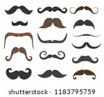 mustaches style  barbershop or... | Shutterstock .eps vector #1183795759