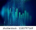 financial graph on technology... | Shutterstock . vector #1183797169